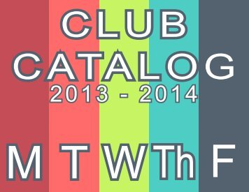 Club Catalog 13.14 - LaGuardiaHS.org