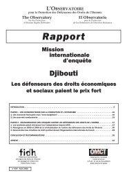 Djibouti - FIDH