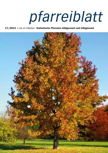 Pfarreiblatt Nr. 17/2013 - Pfarrei St. Martin Adligenswil