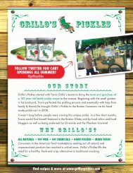 Stores and Restaurants Right-Click Here to ... - Grillo's Pickles