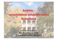 Anämie - verschiedene Ursachen eines Symptoms - MDS-Patienten ...