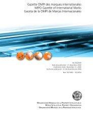 Gazette OMPI des marques internationales WIPO Gazette of ...