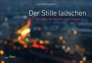 Der Stille lauschen - Verlag kauf+lies GmbH, Judith Rickenbach ...