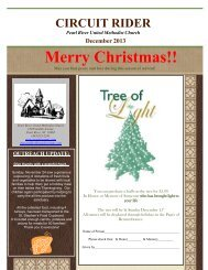December Circuit Rider - United Methodist Church of Pearl River