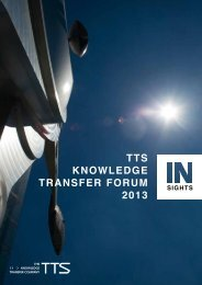 TTS KNOWLEDGE TRANSFER FORUM 2013