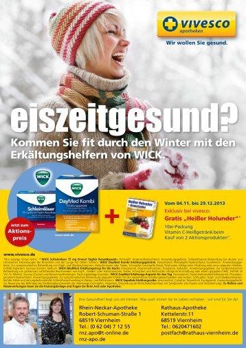 Kommen Sie fit durch den Winter mit den Erkältungshelfern von WICK.