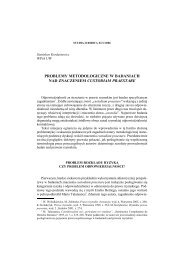 6. S. Kordasiewicz, Problemy metodologiczne w badaniach nad