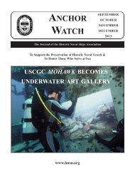 AnchorWatch - Historic Naval Ships Association