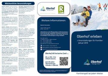 Veranstaltungstipps für Familien mit Kindern Januar 2014 - Oberhof