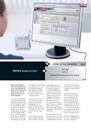 MATRIX Access on Card