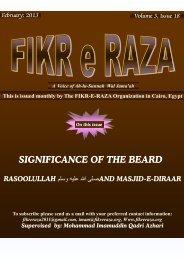 SIGNIFICANCE OF THE BEARD - Fikr e Raza