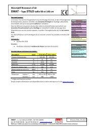 Descriptif Brasseurs d'air EMAT - Type STILO taille 90 et 140 cm