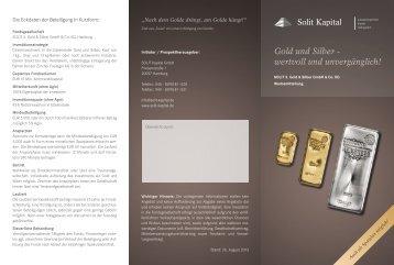 Flyer - SOLIT Kapital GmbH