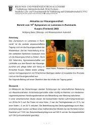Bericht vom 15th Symposium on Lameness in Ruminants ... - LAZBW