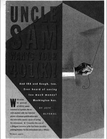 Uncle Sam wants your 401k - Matheny Advisory Group