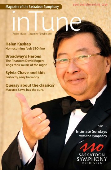 Magazine of the Saskatoon Symphony - articulate eye