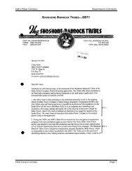 Shoshone-Bannock Tribes - Idaho Power