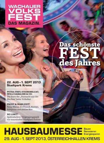 Magazin - Wachauer Volksfest