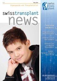 Organspende und Transplantation news - Swisstransplant