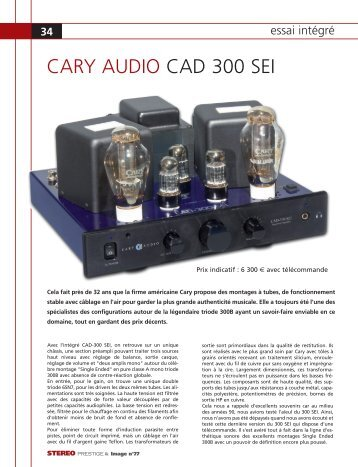 REVAR pages 54/57 - Cary Audio Design