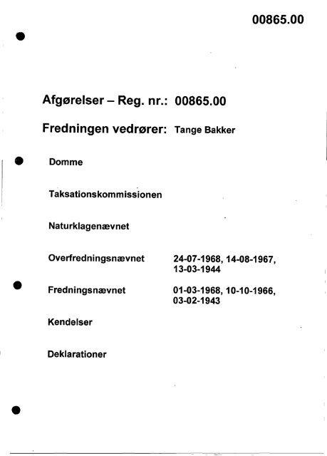 00865.00 Afgørelser - Reg. nr.: 00865.00 ... - Naturstyrelsen