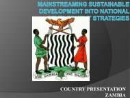Zambia - United Nations Sustainable Development