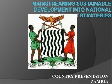 Zambia - United Nations Sustainable Development