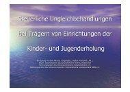 Steuerliche Ungleichbehandlungen bei Trägern von Einrichtungen der ...