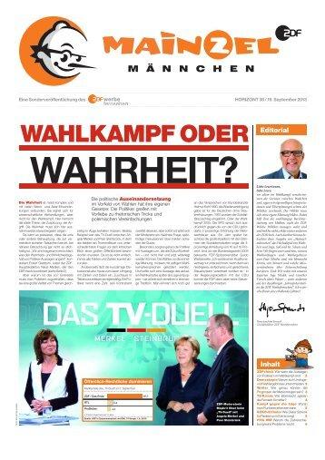 Sonderveröffentlichung des ZDF Werbefernsehen in HORIZONT