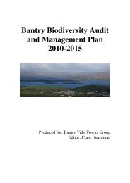 Bantry Biodiversity Audit and Management Plan 2010-2015 - Bantry.ie