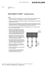 MOSO BAMBOO X-TREMETM - Verlegeanweisung