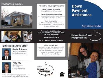 Down Payment Assistance - Northeast Nebraska Economic ...