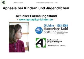 Präsentation Aphasie bei Kindern und Jugendlichen