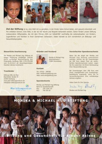 Flyer Monika und Michael Hug Stiftung
