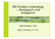 Mit Kindern unterwegs - VCD Bayern