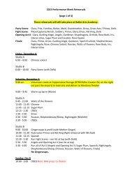 rehearsals12.6 performance week - Garden City Ballet
