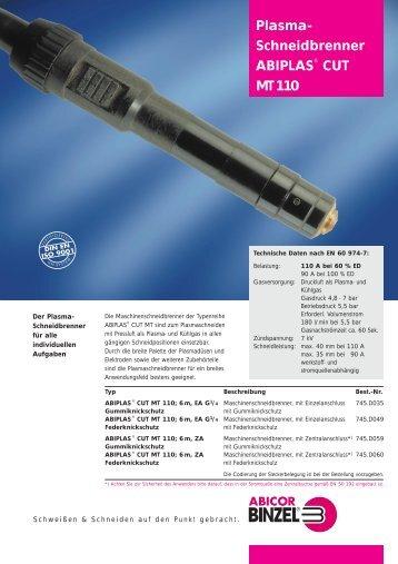 Plasma- Schneidbrenner ABIPLAS® CUT MT 110