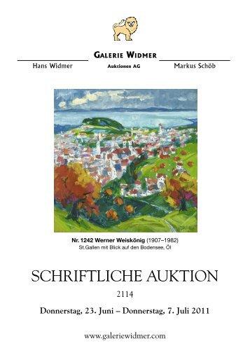 SCHRIFTLICHE AUKTION - Galerie Widmer Auktionen AG