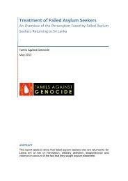 Treatment of Failed Asylum Seekers - TamilNet