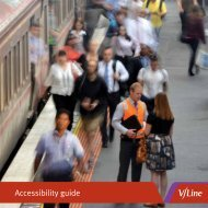 Accessibility guide - V/Line