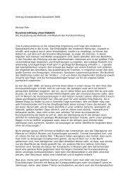 Kunstvermittlung ohne Didaktik. Die Ausstellung als Methode und ...