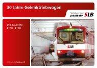 30 Jahre Gelenktriebwagen - Strassenbahn - Europa