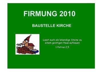 Arbeitsblatt I - Pfarre Brunnkirchen
