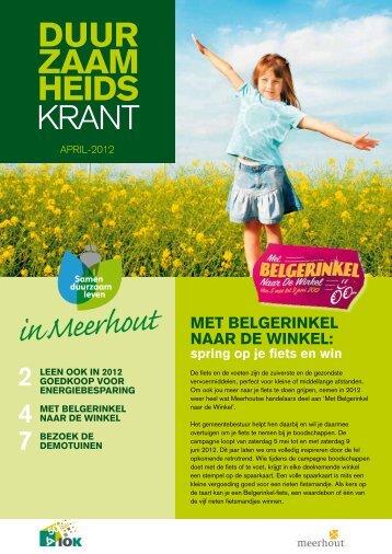 DUUR ZAAM HEIDS KRANT - Meerhout