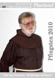 Pfingsten 2010 - Pfarre Heilige Familie, Lienz