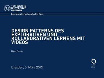 design patterns des explorativen und kollaborativen ... - IHI Zittau