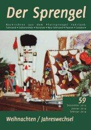 Weihnachten / Jahreswechsel - Pfarrsprengel Fahrland