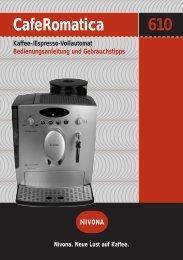CafeRomatica NICR 610 - Reparatur Service Knoblach