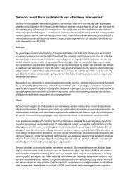 'Sensoor hoort thuis in databank van effectieve interventies' - Movisie