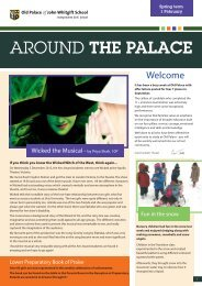 Bulletin for week ending 01/02/13 - Old Palace School